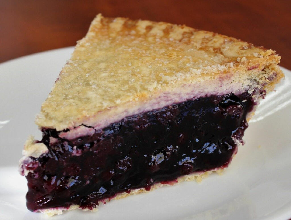 Blueberry Pie made with Gregory''s Foods Pie Dough and Blueberry Filling